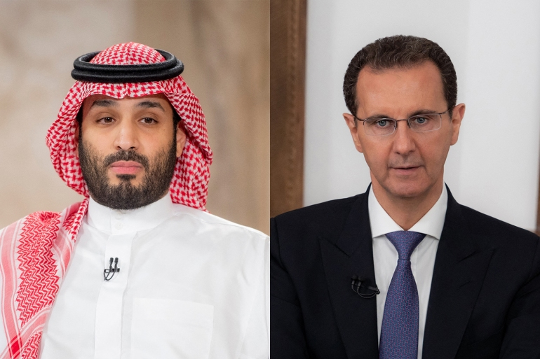 Saudi Crown Prince Mohammed bin Salman and Syria's President Bashar al-Assad are reportedly attempting reconciliation [File: AFP]