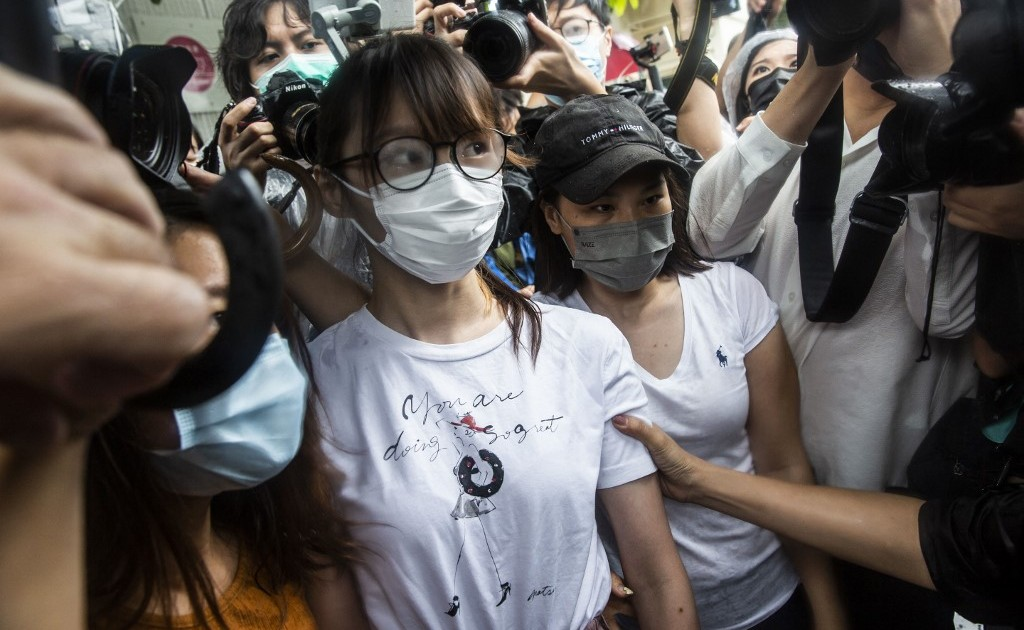Hong Kong activist Agnes Chow released on protest anniversary thumbnail