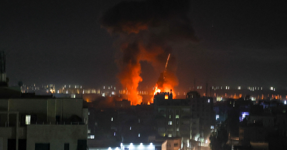 Photo of Israel's second air strike on Gaza since ceasefire