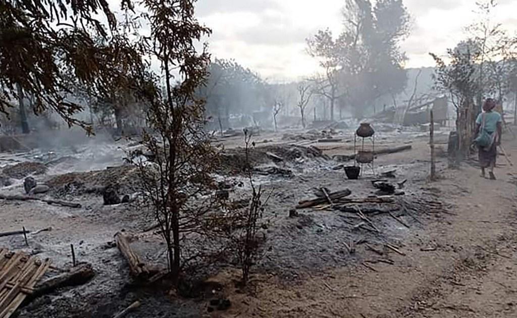 Myanmar security forces blamed for burning down village in Magway - aljazeera