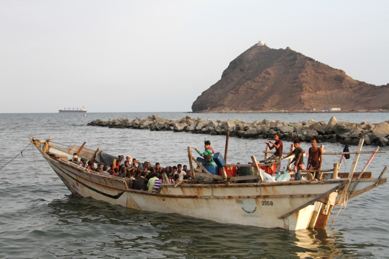 Migrants often find themselves stranded in Yemen, which is mired in the world's worst humanitarian crisis after six years of conflict [File: Saleh Al-Obeidi/AFP]