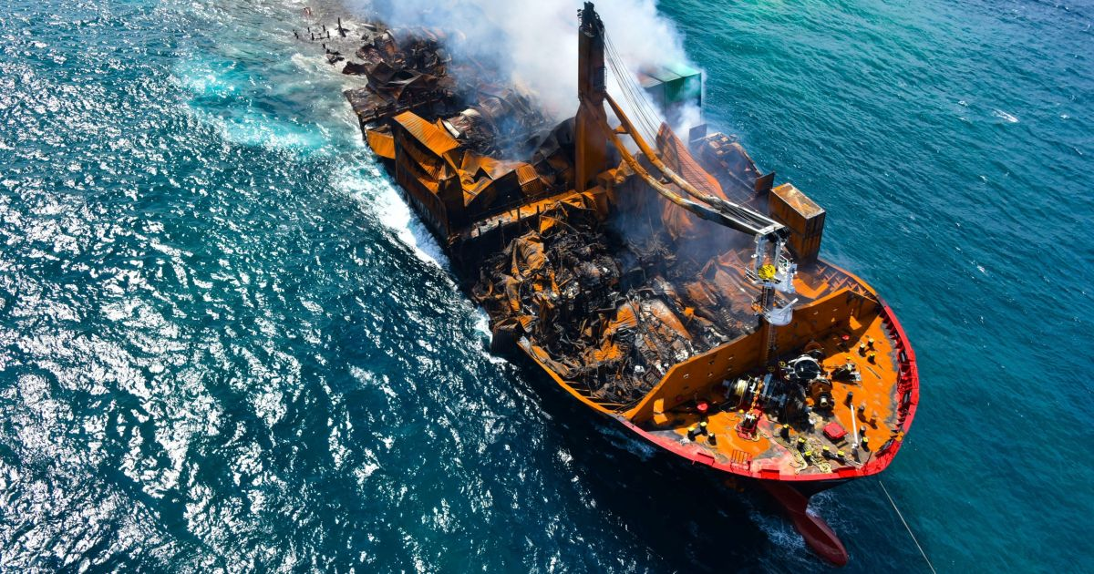 Black box recovered from fire-stricken ship sinking off Sri Lanka