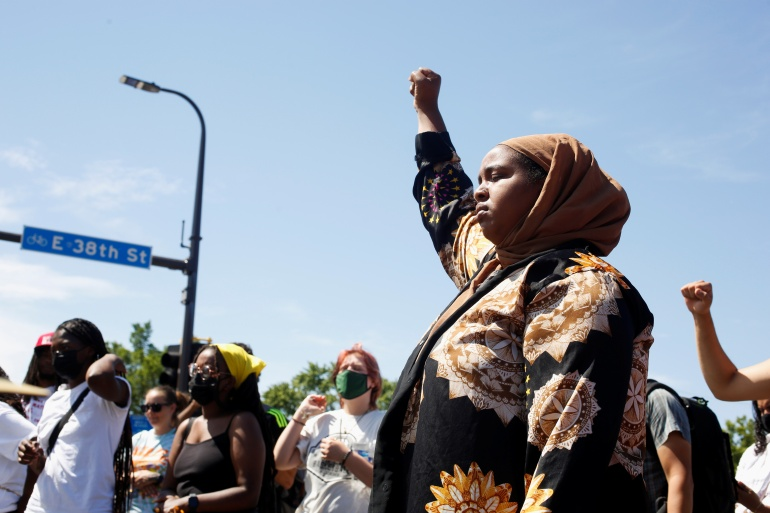Activists 'hold space' as minneapolis opens George Floyd square
