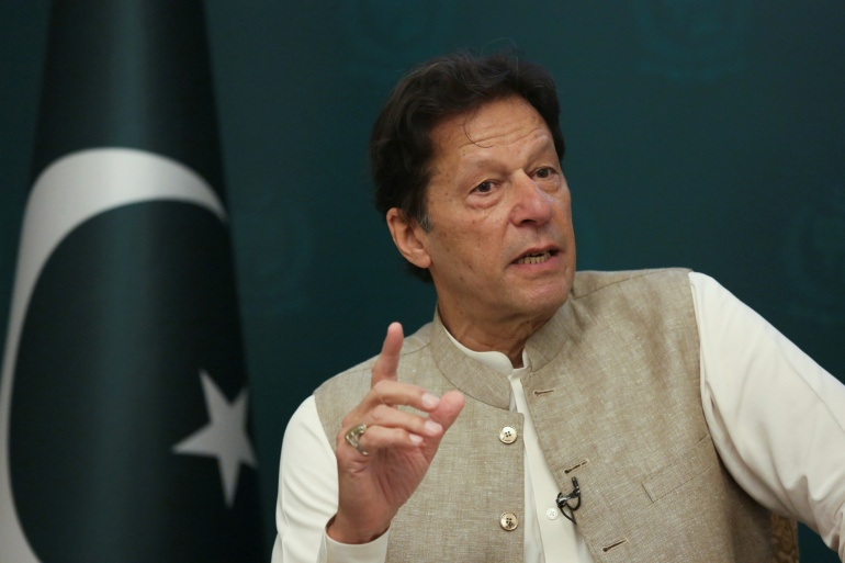 Khan said his government would not allow US to set up any bases inside Pakistan [File: Saiyna Bashir/Reuters]