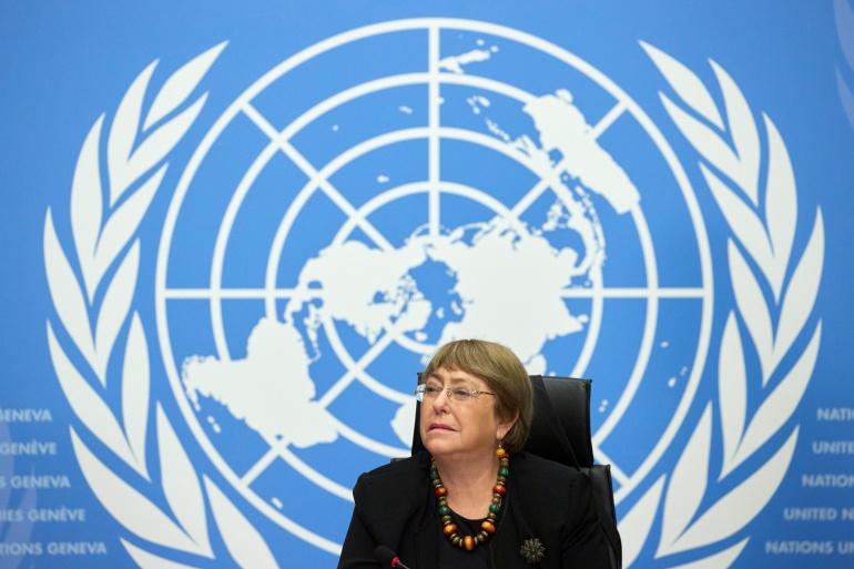 Komisaris Tinggi PBB untuk Hak Asasi Manusia Michelle Bachelet mengatakan bahwa banyak laporan menunjukkan bahwa konflik bersenjata terus berlanjut, termasuk di Negara Bagian Kayah, Negara Bagian Chin dan Negara Bagian Kachin File Denis Balibouse/Reuters