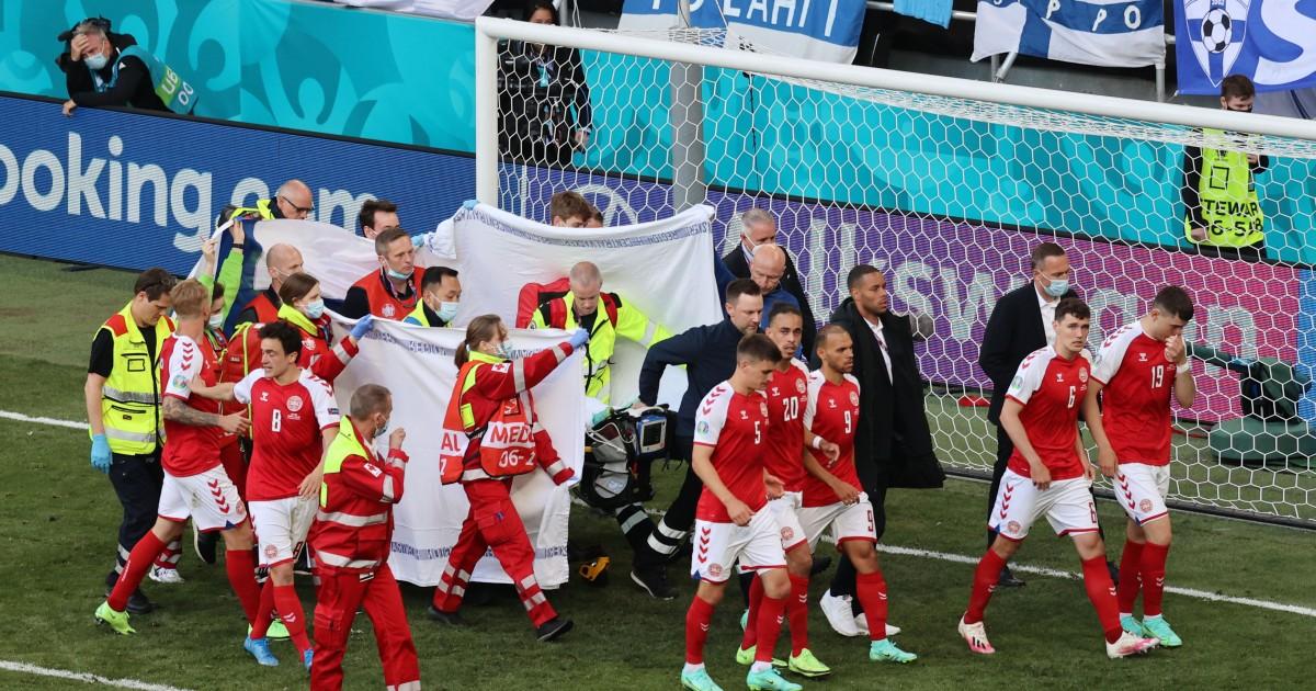 Christian Eriksen collapses in Denmark vs Finland Euro 2020 match