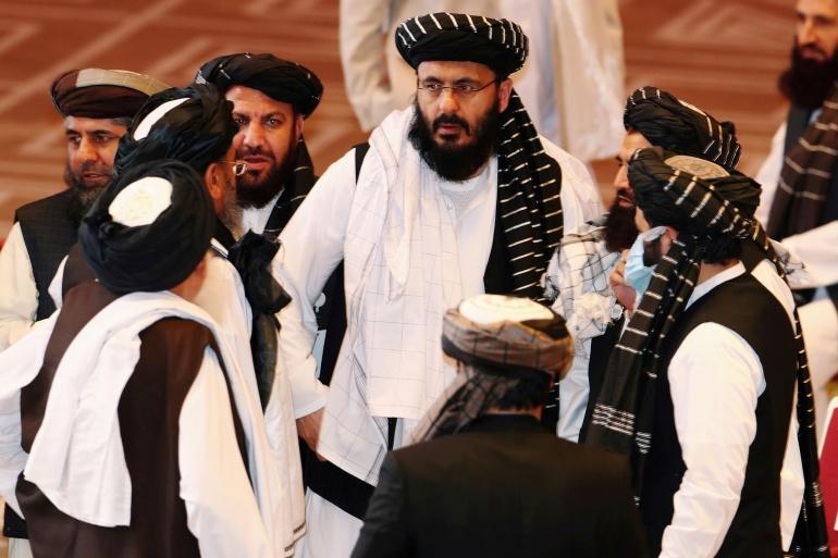 Afghan government representatives and Taliban delegates sought to revive long-stalled peace talks [Ibraheem al Omari/Reuter]
