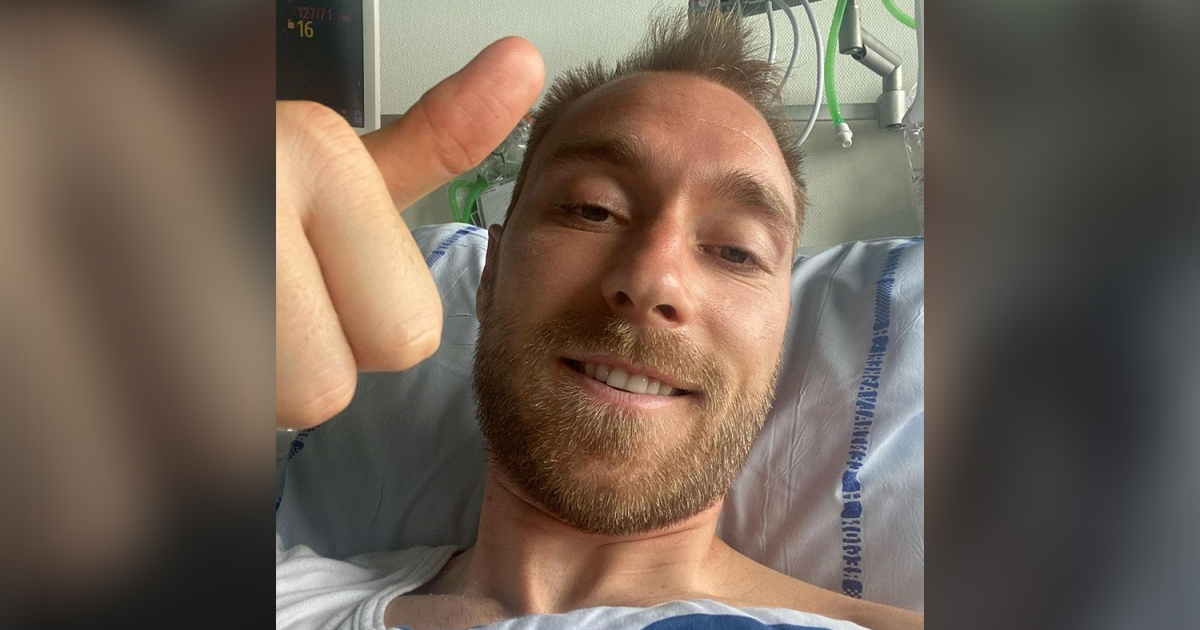 'I'm fine': Eriksen gives a thumbs-up after Euro 2020 collapse