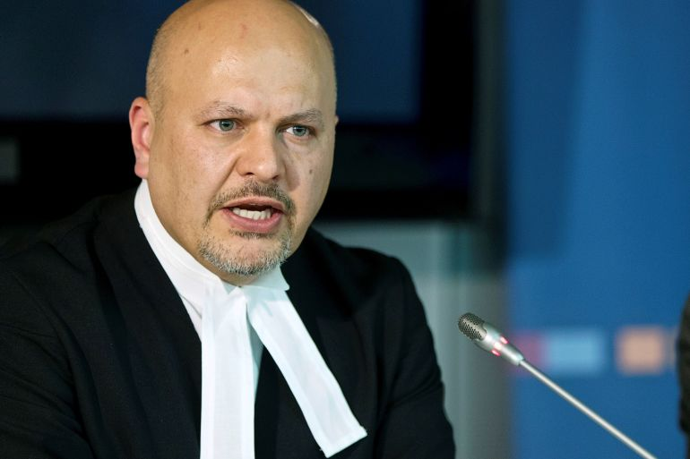 Karim Khan, 51, took an oath to serve his nine-year term honourably and impartially during a ceremony in The Hague [File: Michael Kooren/Reuters]