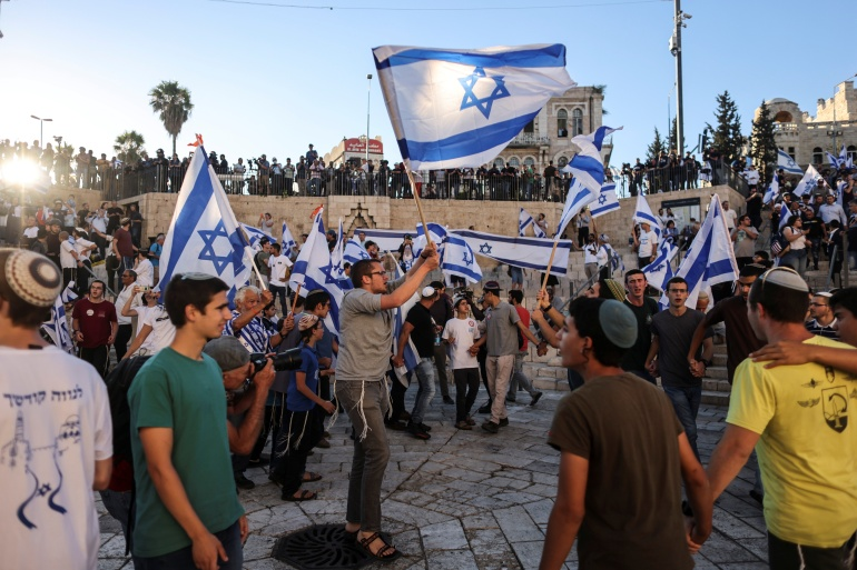 Israeli far-right groups march through occupied East Jerusalem