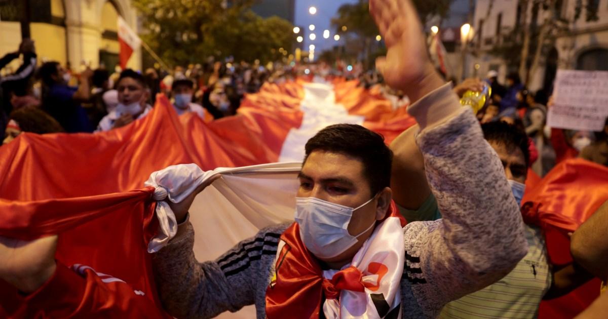 Rival protests in Peru as tensions rise over presidential vote - aljazeera