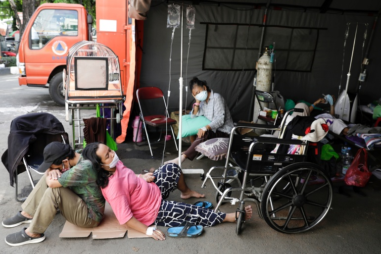 'Health system close to collapse': Indonesia battling COVID surge. 51