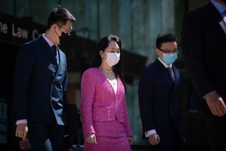 CFO Huawei Technologies Meng Wanzhou ditangkap pada Desember 2018 di Bandara Internasional Vancouver File Darryl Dyck/Bloomberg