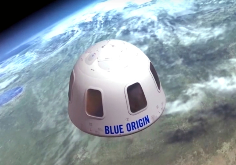 - AP21133708757865 - Bezos in space: Amazon CEO, brother claim seats on first flight   Science and Technology News