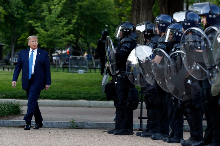 AP21160542682057 Trump photo op was not reason for removal of protesters: Report   Black Lives Matter News