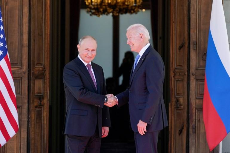 Putin says the talks were 'constructive' as Biden describes 'positive' tone of summit [Patrick Semansky/AP Photo]