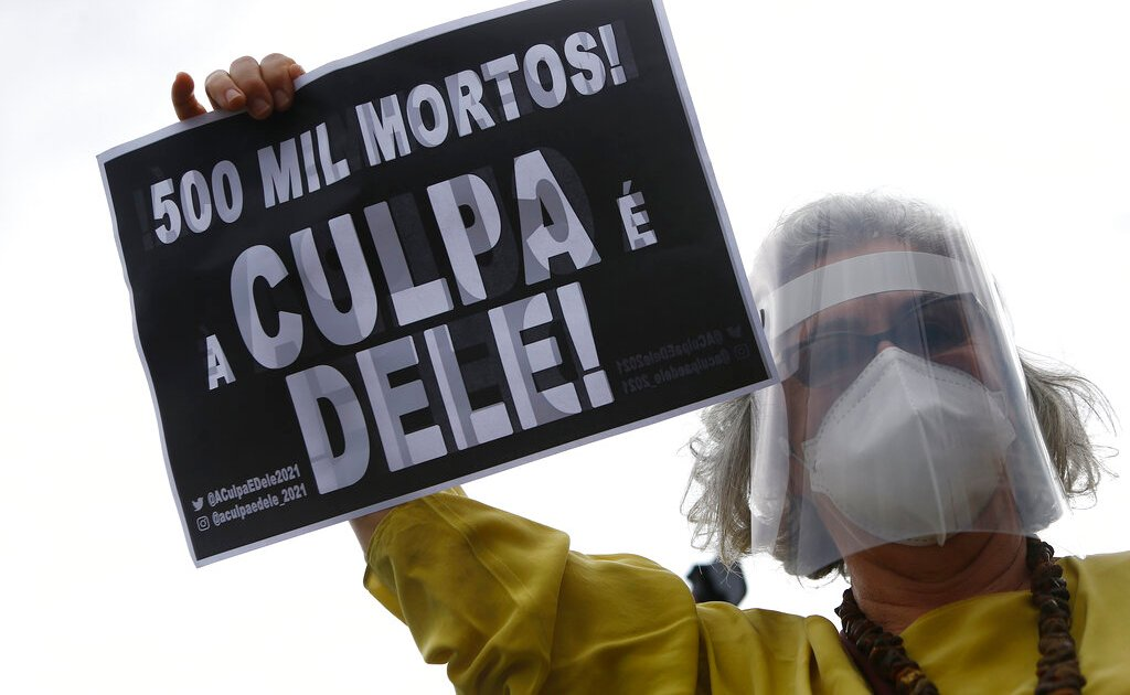 Brazil passes 500,000 COVID deaths as anti-gov't protesters rally
