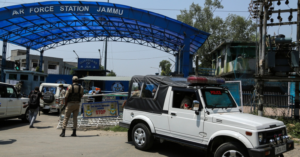 Indian air base in Kashmir hit by bomb-laden drones, police say
