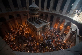 Evangelical Christians believe Jesus was crucified, buried and rose from the dead in old Jerusalem and are a major source of political and financial support for Israel [Ariel Schalit/AP Photo]