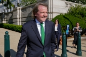 Former White House counsel Don McGahn departs after appearing for questioning behind closed doors by the House Judiciary Committee on Capitol Hill in Washington, Friday, June 4, 2021 [Patrick Semansky/AP Photo]