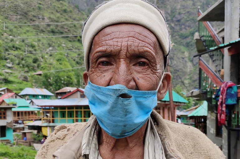 Balram is one of the few people who has had the first dose of the vaccine in Malana. Credits Srishti Jaswal for Al Jazeera 1
