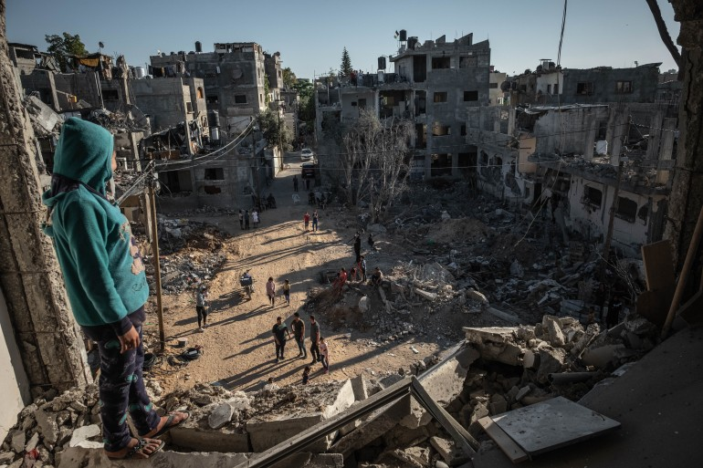 The May offensive on Gaza was marked by its intensity and the targeting of a wide range of civilian structures [File: Fatima Shbair/Getty Images]