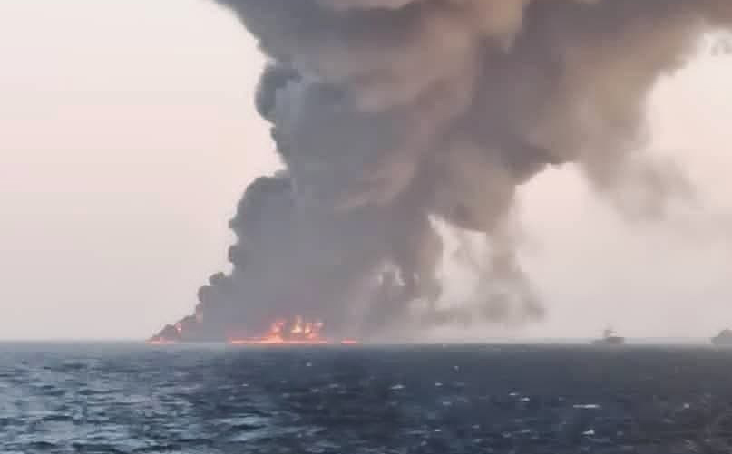 Iran navy ship sinks after fire in Gulf of Oman