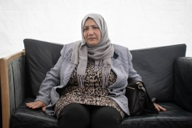 Rihab Kassem, 66, says she has nothing left in Syria to return to, having lived in Denmark since 2013 [Amanda Magnani/Al Jazeera]
