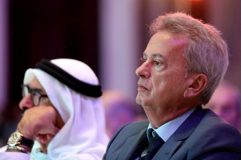 Riad Salameh, mantan bankir investasi Merrill Lynch, menjabat sebagai gubernur bank sentral Lebanon sejak 1993 File Satish Kumar/Reuters