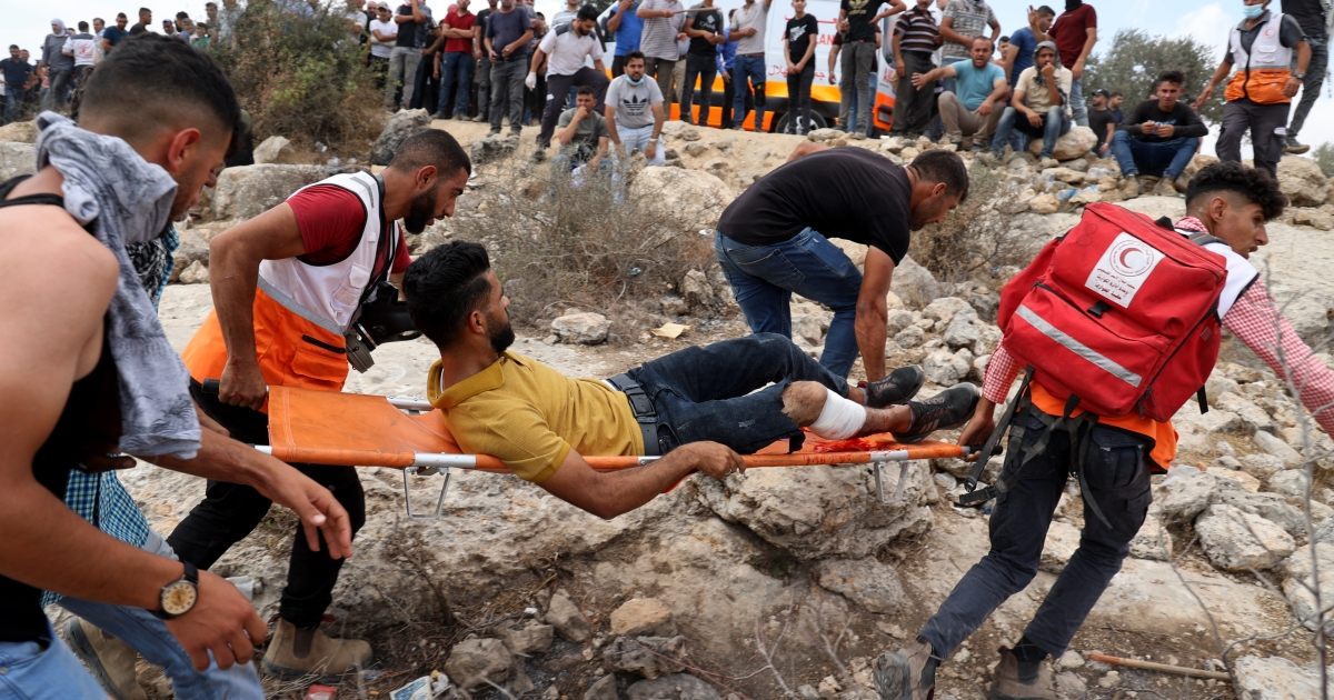 Dozens of Palestinians hurt in confrontations with Israeli forces