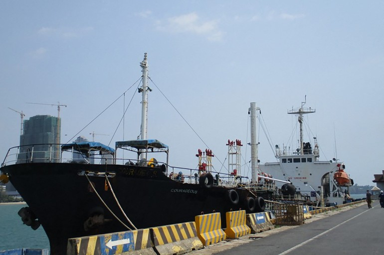 The US said M/T Courageous was reportedly used to transfer oil products to North Korean vessels and to make direct shipments to the North Korean port of Nampo [US Justice Department Handout photo via AFP]