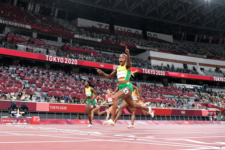 Thompson-Herah leads Jamaican sweep in women's Olympic ...