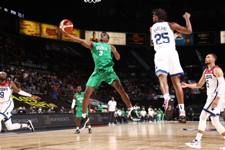 Nigeria had six NBA players and former NBA head coach Mike Brown at the helm [AFP]