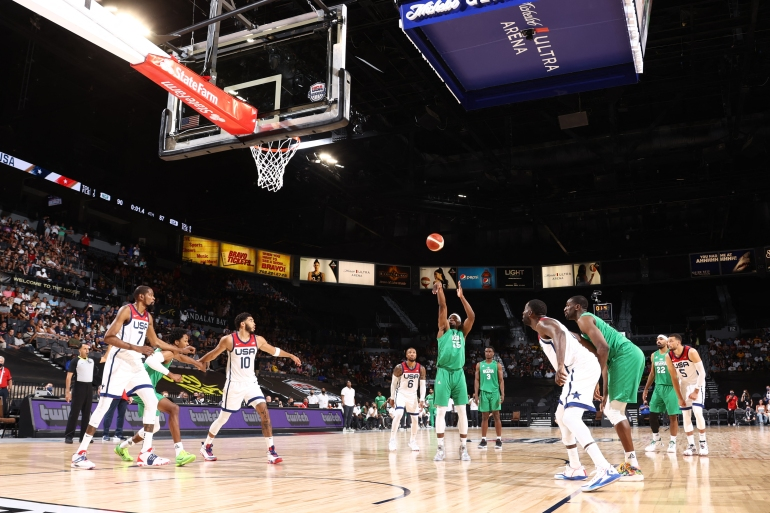 Nigeria's win came nine years after the US crushed the Nigerians 156-73 at the London Olympics [AFP]