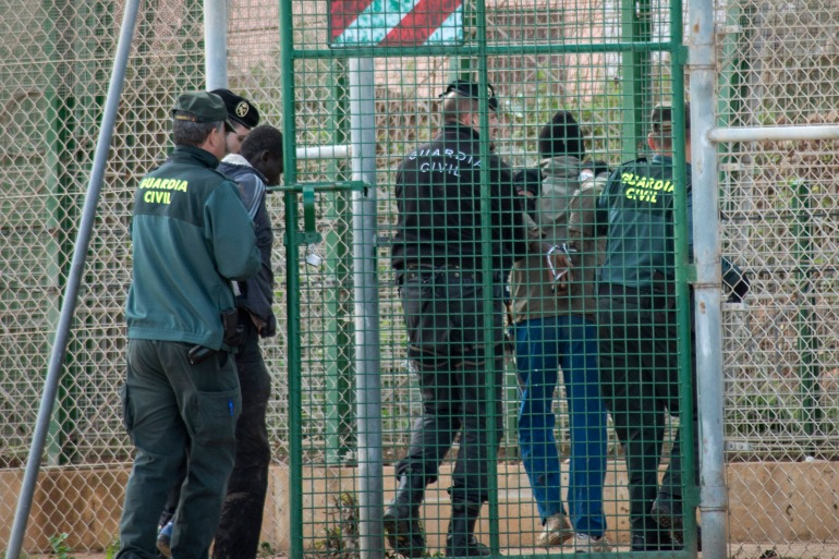 Melilla and Ceuta - a second Spanish enclave also on Africa's Mediterranean coast - are popular crossing points for migrants and refugees seeking a better life in Europe [File: Jesus Blasco de Avellaneda/Reuters]