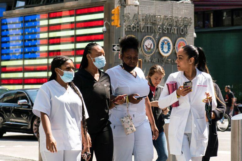 COVID-19 Delta surge in US leads to new restrictions, jab push |  Coronavirus pandemic News | Al Jazeera