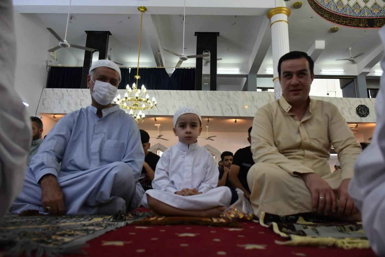 Muslims after performing Eid al-Adha prayers at Tahsin Sorani Mosque in Kirkuk, Iraq. [Ali Makram Ghareeb/Anadolu]