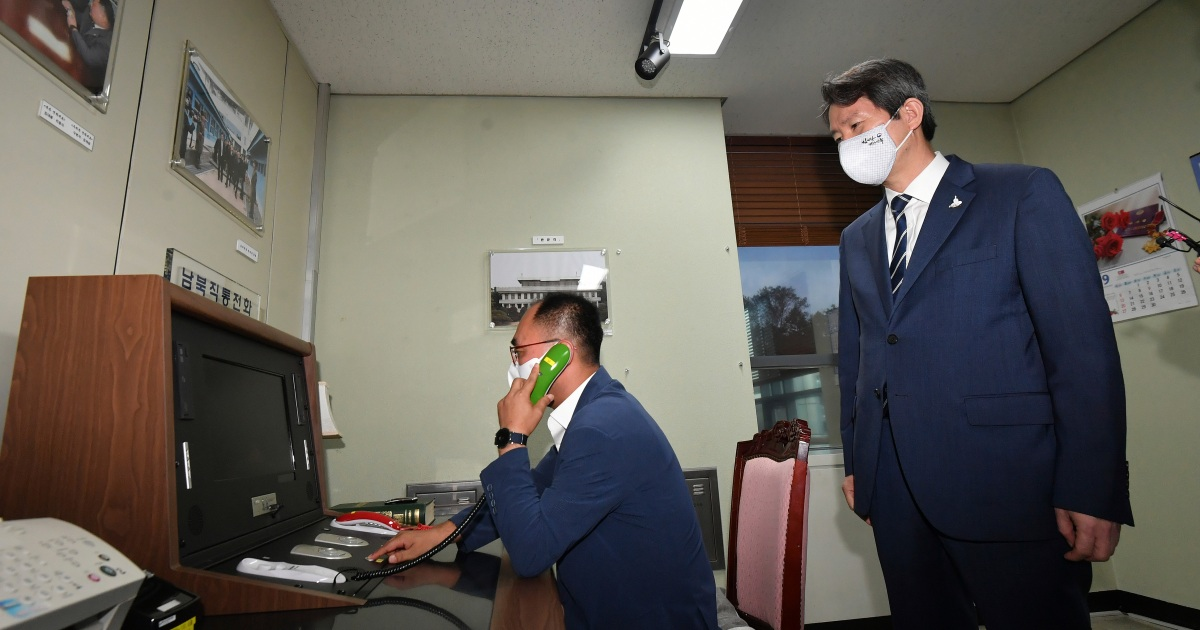 North and South Korea restore severed cross-border hotline