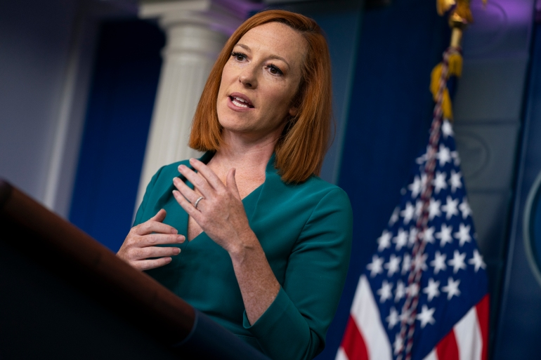 'The president wants Americans to have access to affordable and reliable energy, including at the pump. And so that's why our team is constantly monitoring gas prices and directly communicating with OPEC parties to get to a deal and allow proposed production increases to move forward,' White House Press Secretary Jen Psaki said during a Tuesday press briefing [File: Evan Vucci/AP Photo]