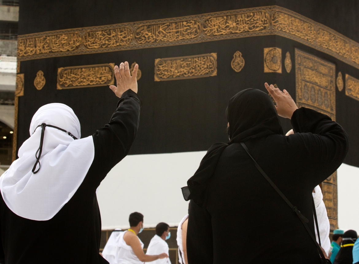 The pilgrimage to Mecca, required once in a lifetime of every Muslim who can afford it and is physically able to make it, used to draw more than two million people. But for a second straight year, it has been curtailed due to the coronavirus with only vaccinated people in Saudi Arabia able to participate. [Amr Nabil/AP Photo]