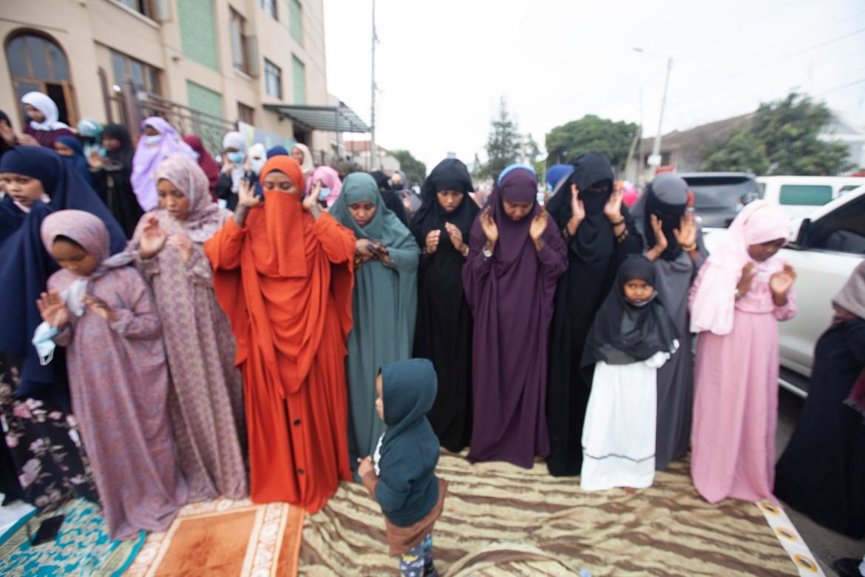 Muslims gather for prayers to celebrate Eid al-Adha in Nairobi, Kenya. [Sayyid Abdul Azim/AP Photo]