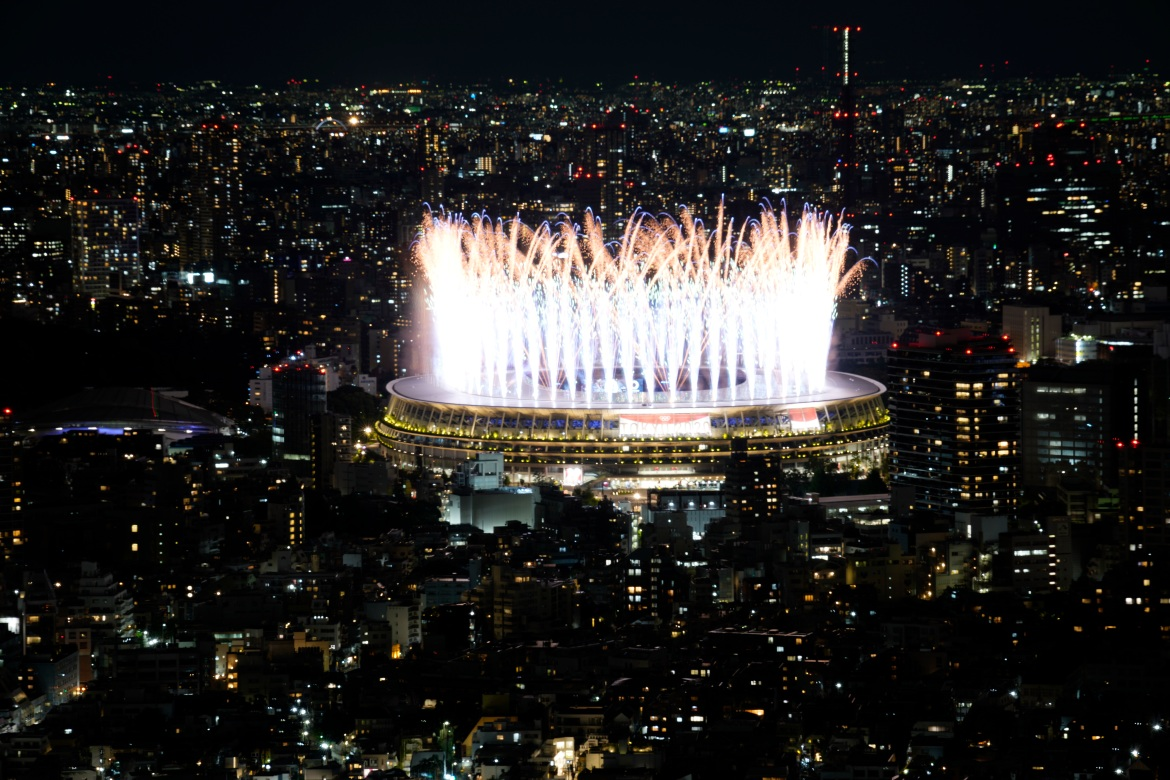The Tokyo Olympics opened with a ceremony reflecting a Games like no other, walking a fine line between celebrating the world's best athletes while acknowledging the pandemic. [Eugene Hoshiko/AP]