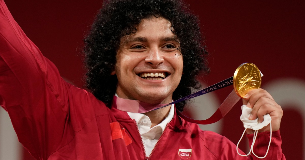 Weightlifter Fares Elbakh wins Qatar's first Olympic gold