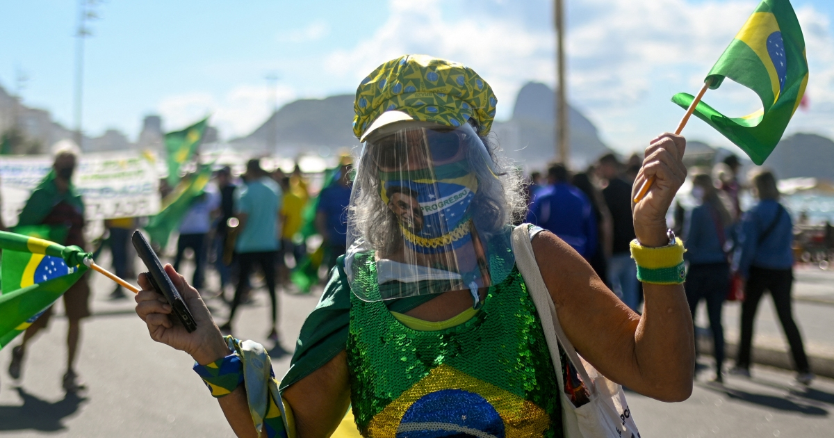 Bolsonaro supporters rally for change to Brazil's voting system