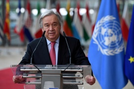 'It is particularly horrifying and heartbreaking to see reports of the hard-won rights of Afghan girls and women being ripped away from them,' said UN's Secretary-General Antonio Guterres [File: Reuters]