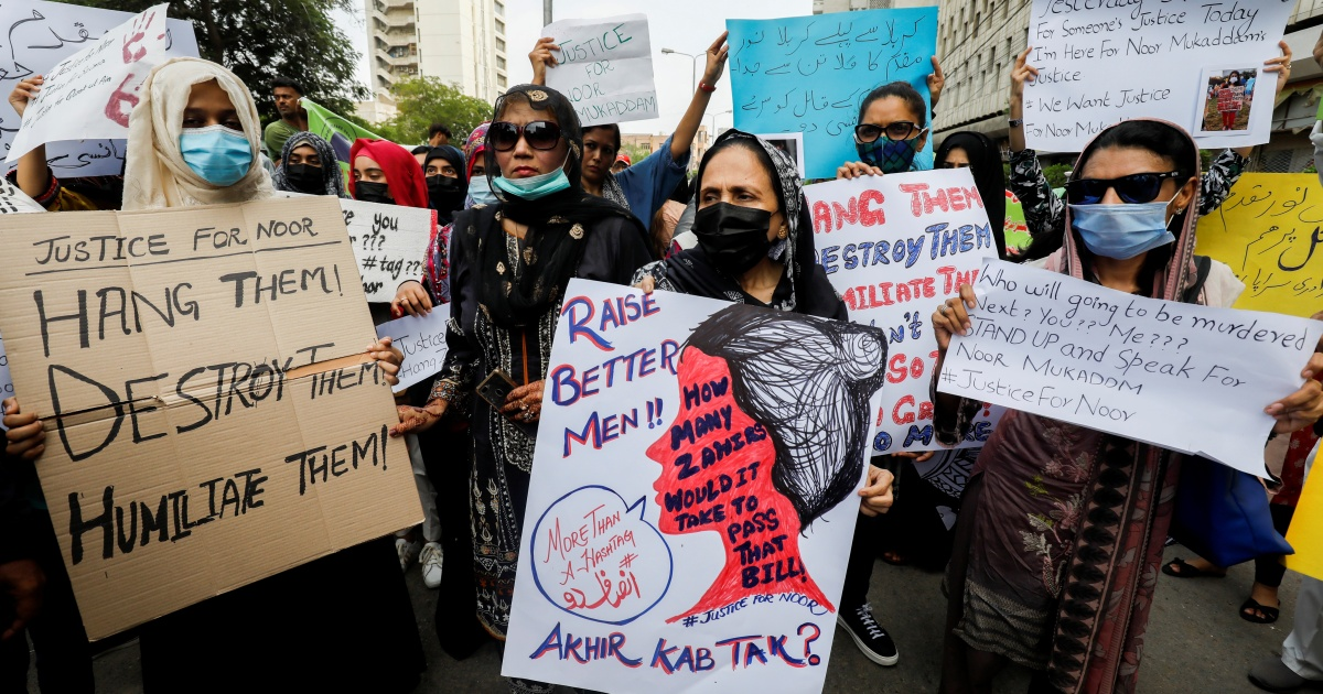 What should Pakistan do to end violence against women?