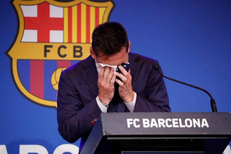 34-летний футболист играет в «Барселоне» 21 год и стал лучшим бомбардиром за всю историю с 682 голами [Albert Gea / Reuters].