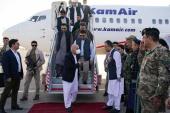 Afghan President Ashraf Ghani arrives in Mazar-i-Sharif [Afghan presidential palace/Handout via Reuters]