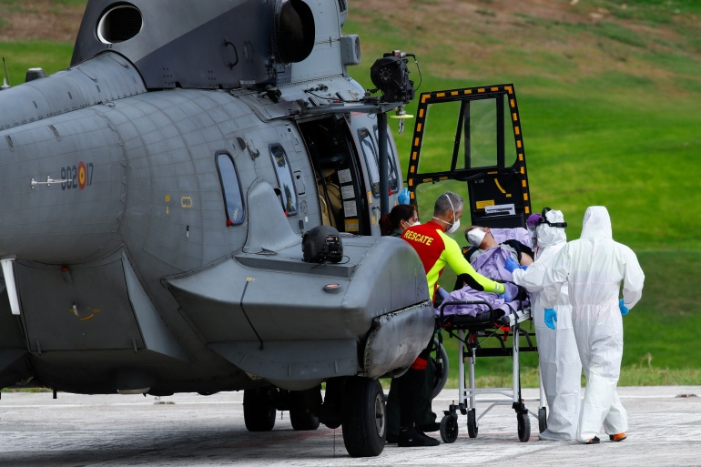 Spain's Maritime Rescue Service said a 30-year-old woman was the only survivor pulled from the vessel [Borja Suarez/Reuters]