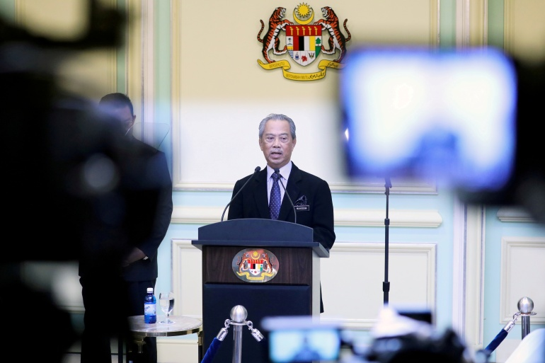Malaysia's Prime Minister Muhyiddin Yassin is expected to step down on Monday after a tumultuous 17 months in office [File: Reuters]